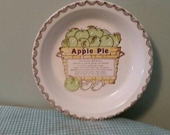 Apple pie dish. Sign by artist ( Dee)