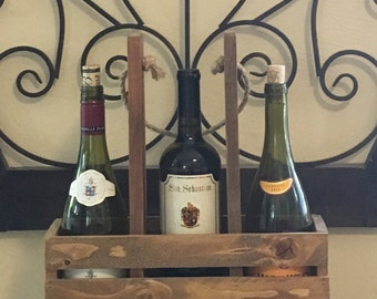 Wine and wine glass carrier.