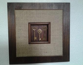 3D brass keys frame