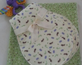 Burp clothes and receiving blankets, baby shower gift, baby gift, baby shower