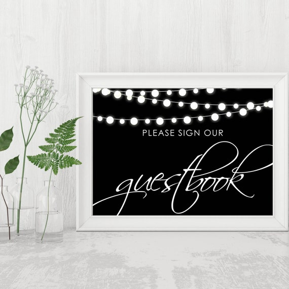 wedding guestbook sign please sign our guestbook printable. Black Bedroom Furniture Sets. Home Design Ideas