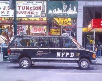 NY Souvenirs - Original Acrylic Painting