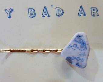 Ceramic found treasure hair slide