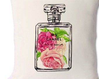 chanel perfume bottle cushion