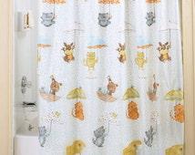 Raining Cats and Dogs Bath Accessory, Bathroom Rug, Soap Dish, Shower Curtain, Shower Curtain Hooks, Soap Dispenser