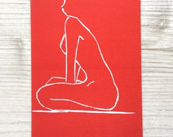 Sitting Woman (Red)