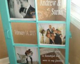 Window with any sayings or quotes. We can also add pictures as well as any color!