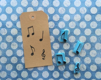 Set musical notes stamps