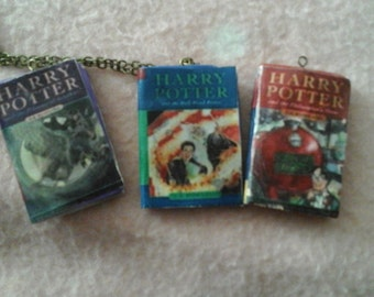 Harry Potter inspired book pendants
