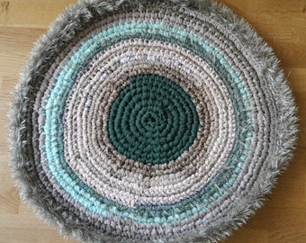 Carpet upcycled/Upcycled crochet rug/round rug/rugs/crochet rugs