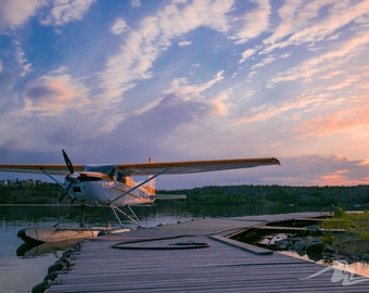 Float Plane under the Midnight Sun