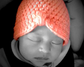 Baby to Toddler crocheted Turban hat