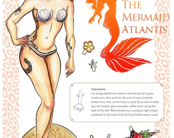 Custom Mermaid Paper Doll