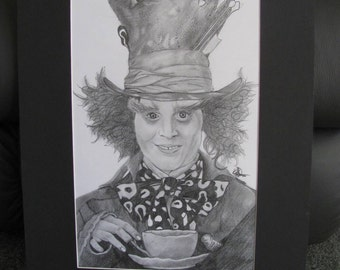 Johnny Depp as 'The Mad Hatter' Graphite Portrait