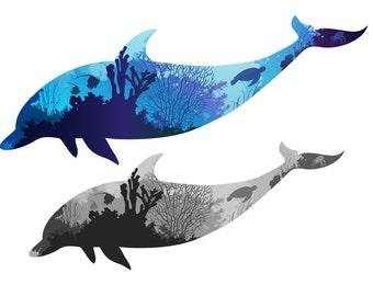 Dolphin Wall Art / Sticker Decal