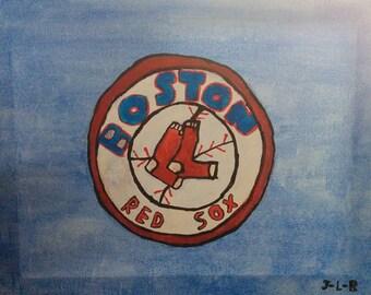 Canvas: Boston - Red Socks