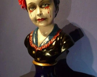 Bloody Mary handpainted sculpture goth, dark art
