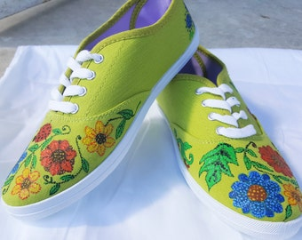 Hand Painted Shoes flowers