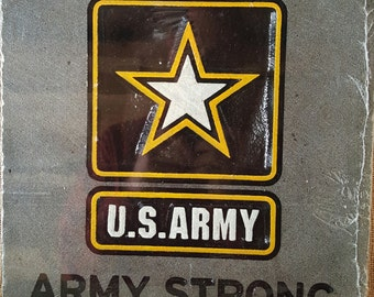 Army stone carving