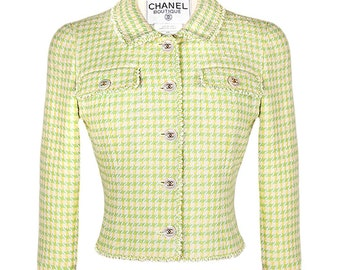Chanel Pale Green Tweed Jacket