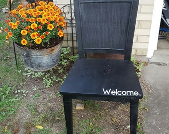 Vintage Black Welcome Chair