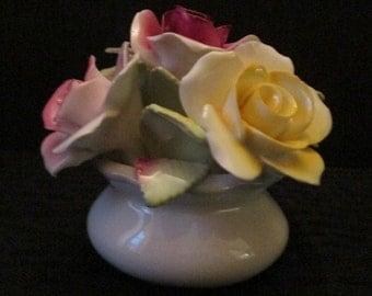 Mini Bouquet of Roses Fine China Decor