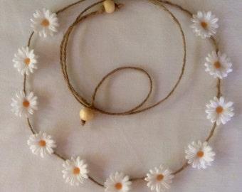 Daisy, Festival, Wedding, Beach, Renaissance headband/flower crown