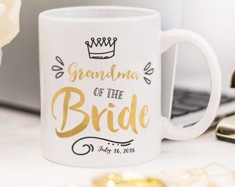 Grandma of the Bride mug, personalized gift for the Grandma of the Bride