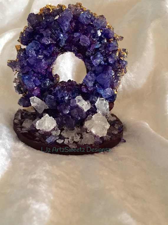 One Of A Kind Amethyst Geode Edible Cake by 89ScentedCandleCo