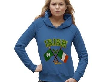 Women's Irish Flag St Patricks Day Hoodie