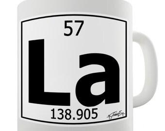 Periodic Table Of Elements La Lanthanum Ceramic Tea Mug
