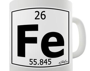 Periodic Table Of Elements Fe Iron Ceramic Novelty Gift Mug