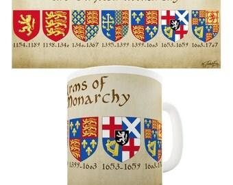 English Royal Coat Of Arms Ceramic Novelty Mug