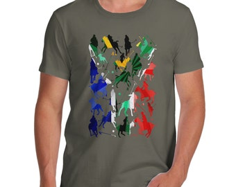 Men's South Africa Polo Collage T-Shirt