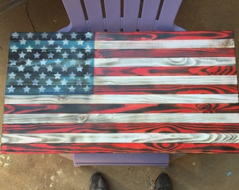 Torched American flag