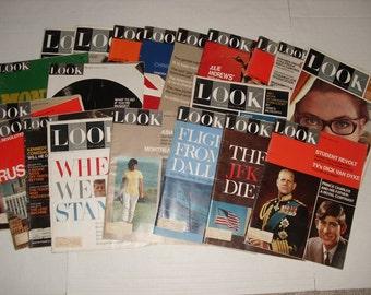 Vintage Look Magazines.  Twenty Issues.