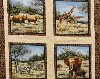 Fabri-Quilt AFRICAN PLAINS 2179 100% Cotton Panel Fabric (#9)