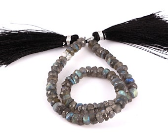 6mm Faceted Labradorite Bead Strand, 10 Inches Long Strand