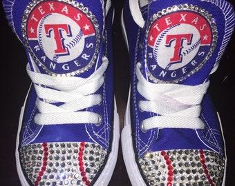 Custom Bling Texas Rangers Shoes