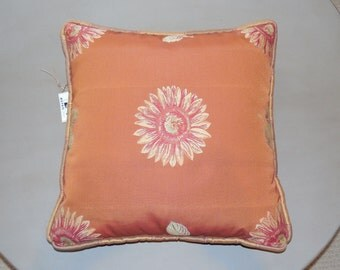 Embroidered Decorative Throw Pillow with optional insert included