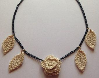 Handmade wool necklace