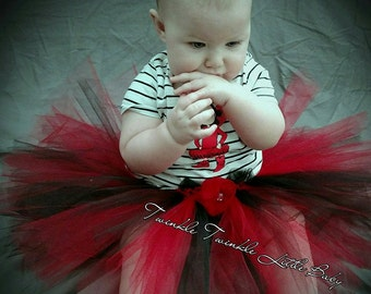 6- 12 Months Red and Black Tutu