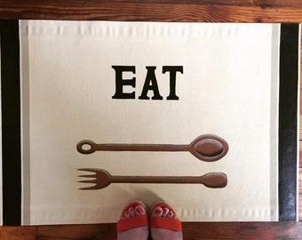 Eat 2'x3' Floor Cloth