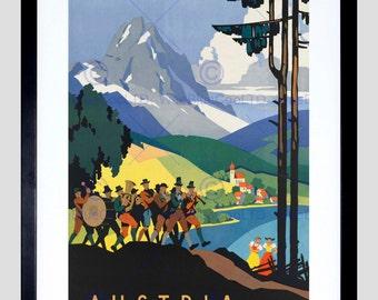 Travel Music Mountain Austria Lake Fine Art Print Poster FECC1979