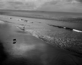 Whitby beach print, black and white photography, beach photography, landscape photography, ocean photography