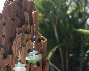 Seaglass earrings handmade