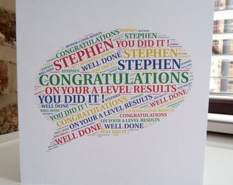 Personalised Exam Results Card, Personalised Card, Congratulations on your Exam Results, Exam Success Card