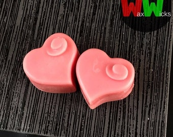Soy Wax Mini-Melts, Scented Wax Mini-Melts, Heart Shaped Mini-Melts, Home Fragrance - Pack of 10