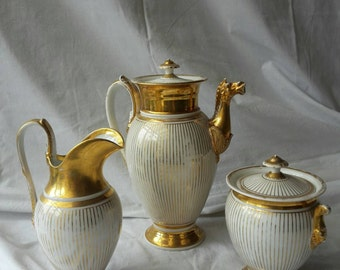 Vieux paris tea set