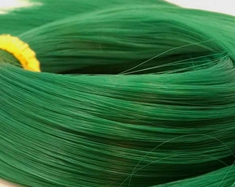 Oz Emerald Green Nylon Doll Hair Hank for Rerooting Barbie® Monster High® Ever After High® My Little Pony Fashion Royalty Disney